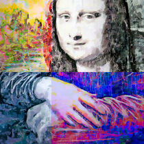 Mona Lisa Vision 3 by GabeZ Art