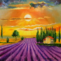 Lavender field at sunset by Olha Darchuk
