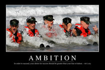 Ambition Motivational Poster by Stocktrek Images