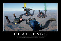 Challenge Motivational Poster von Stocktrek Images