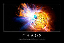 Chaos Motivational Poster von Stocktrek Images