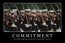 Commitment Motivational Poster by Stocktrek Images
