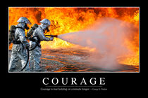 Courage Motivational Poster von Stocktrek Images