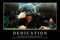 Dedication Motivational Poster von Stocktrek Images
