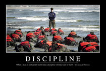 Discipline Motivational Poster by Stocktrek Images