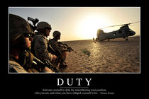 Duty Motivational Poster by Stocktrek Images