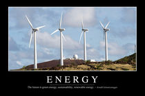 Energy Motivational Poster von Stocktrek Images