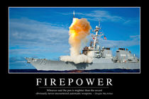 Firepower Motivational Poster von Stocktrek Images