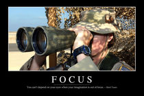 Focus Motivational Poster von Stocktrek Images