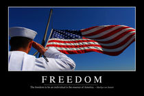 Freedom Motivational Poster von Stocktrek Images