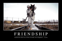 Friendship Motivational Poster von Stocktrek Images