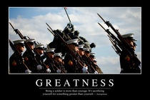 Greatness Motivational Poster von Stocktrek Images