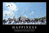 Happiness Motivational Poster von Stocktrek Images
