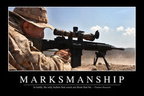 Marksmanship Motivational Poster by Stocktrek Images