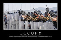 Occupy Motivational Poster by Stocktrek Images
