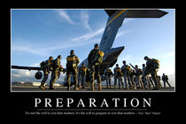 Preparation Motivational Poster von Stocktrek Images
