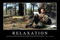 Relaxation Motivational Poster by Stocktrek Images