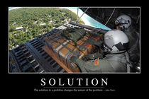 Solution Motivational Poster von Stocktrek Images