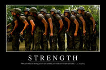 Strength Motivational Poster by Stocktrek Images