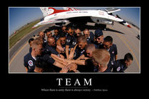 Team Motivational Poster by Stocktrek Images