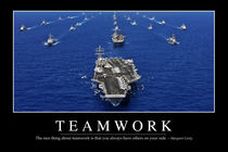 Teamwork Motivational Poster by Stocktrek Images
