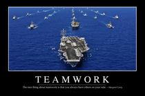 Teamwork Motivational Poster von Stocktrek Images