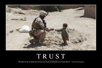 Trust Motivational Poster by Stocktrek Images