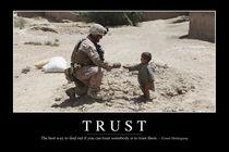 Trust Motivational Poster von Stocktrek Images