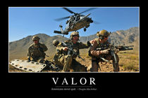 Valor Motivational Poster by Stocktrek Images