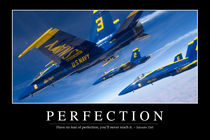 Perfection Motivational Poster by Stocktrek Images