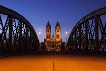 Abendstimmung Wiwilibrücke Freiburg by Patrick Lohmüller