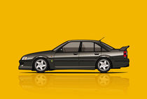 Opel Lotus Omega / Vauxhall Lotus Carlton Type 104 (yellow) by monkeycrisisonmars
