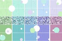 Frühlingsfarben Muster von Christine Bässler