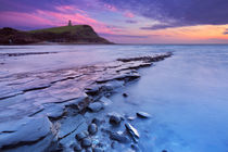Sunset at Kimmeridge Bay in southern England by Sara Winter
