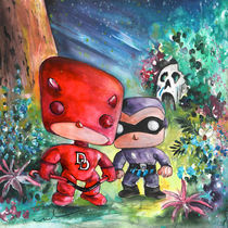 Daredevil And The Phantom In The Jungle by Miki de Goodaboom