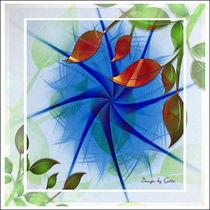 Digtaler Herbststern by bilddesign-by-gitta