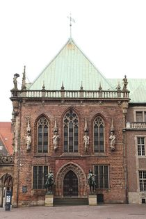 Seitenansicht Bremer Rathaus von Anja  Bagunk