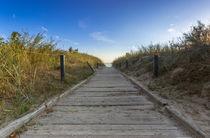 Langer Weg zum Strand an der Nordsee von Dennis Stracke