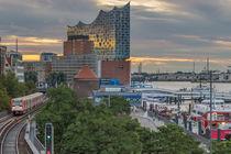Hamburg Elbphilharmonie im Hafen Hamburg Landungsbrücken von Dennis Stracke