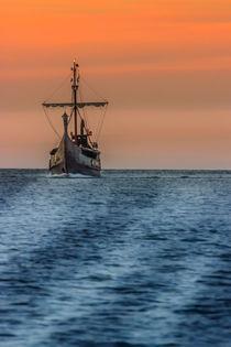 Wickinger Schiff in der Ostsee Usedom von Dennis Stracke