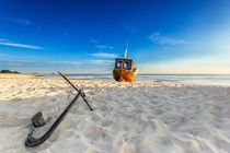 Auf dem Trockenen am Strand von Usedom Ostsee von Dennis Stracke