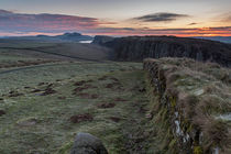 Roman Wall Sunrise von David Pringle