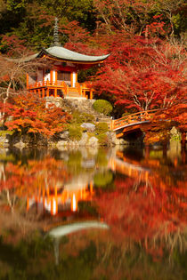Autumn colours at Daigo-ji Temple in Kyoto, Japan by Sara Winter
