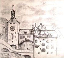 Brückenturm, Regensburg by Hildegunde Riemann