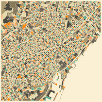 BARCELONA MAP by Jazzberry  Blue