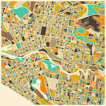 MELBOURNE MAP von Jazzberry  Blue