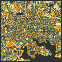 BALTIMORE MAP by Jazzberry  Blue