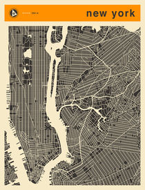NEW YORK MAP von Jazzberry  Blue