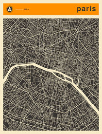PARIS MAP von Jazzberry  Blue
