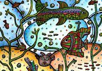 Aquarium Aquarell Art von anel